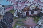 Садок вишневий коло хати. Полотно, акрил.Миценко Вікторія.Канівський гуманітарний інститут УДПУ імені Павла Тичини,